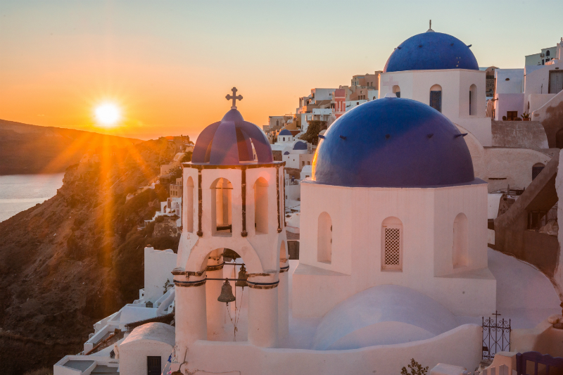 Watching the sunset is one of many things to do in Santorini, Greece